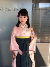 卒業式のまとめ髪です!清楚できっちりとまとめたハーフアップスタイルです!!!|KENJI hair collection's 西宮店のヘアスタイル