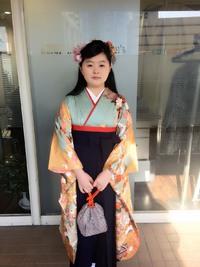 卒業式清楚なハーフアップスタイル!!