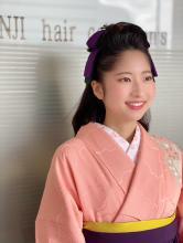 卒業式ハーフアップ袴リボンヘア!!!|KENJI hair collection's 西宮店のヘアスタイル