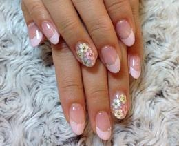 ピンク・ホロのお花|Libra hair spa りんくうシークル店のネイル