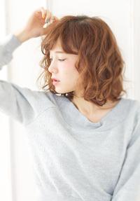 くせ毛風ゆるウェーブボブ〜アッシュベージュ【N-116】