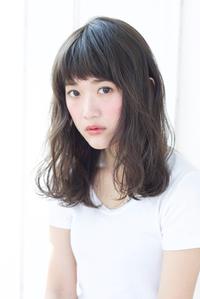 ミディアムウェーブ外国人風ヘア【N-575】