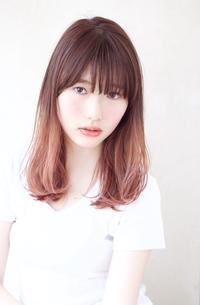 ピンクグレージュグラデーションカラー【N-595】