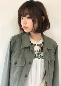 耳掛けラフが可愛い春のレイヤーボブ【k53】