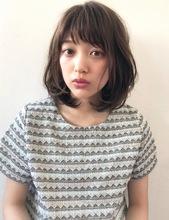 ひし形レイヤー艶ふわボブディ【k67】|Lila by afloatのヘアスタイル