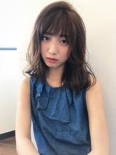 ラフ感外はね愛され大人セミディ【k106】|Lila by afloatのヘアスタイル