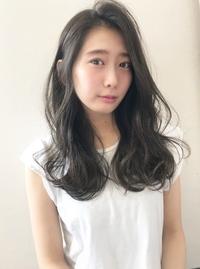 流し前髪のふわふわフェミニン【k115】