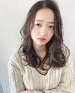 ツヤ質ベージュブラウンのセミディカール【k192】