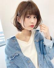 カジュアルゆるふわワンカールボブ【k199】|Lila by afloatのヘアスタイル