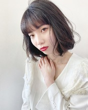 可愛い柔らか艶質ボブ【k208】|Lila by afloatのヘアスタイル
