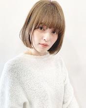 ラフ感が可愛いシンプルボブ【k210】|Lila by afloatのヘアスタイル