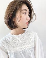 ラフで可愛い柔らかボブ【k223】|Lila by afloatのヘアスタイル