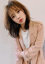 シースルーバングレイヤーミディT27|Lila by afloat 小笠原 剛のヘアスタイル