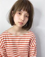 ラフに切りっぱなしワンカールボブ【k241】|Lila by afloatのヘアスタイル