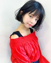 黒髪フェミニンボブ【k264】|Lila by afloatのヘアスタイル