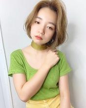 可愛いハンサムボブ【k302】|Lila by afloatのヘアスタイル