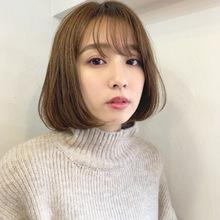 秋に可愛いブラウンボブ【k344】|Lila by afloat 立野 克弥のヘアスタイル
