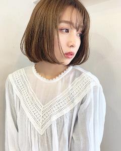 人気のワンカールボブ【k345】|Lila by afloatのヘアスタイル