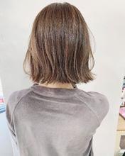 お客様hair*切りっぱなしボブ【k347】|Lila by afloatのヘアスタイル