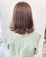 お客様hair*可愛い外はねロブ【k348】|Lila by afloatのヘアスタイル