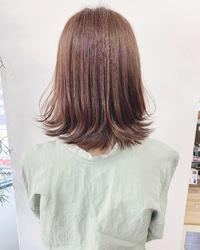 お客様hair*可愛い外はねロブ【k348】