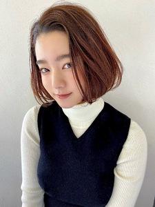 かきあげボブ【s31】 Lila by afloatのヘアスタイル