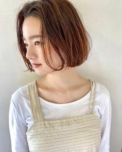 横顔もキマるワンレンボブ【s35】 Lila by afloatのヘアスタイル