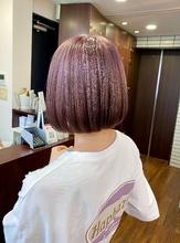 ソフトな切りっぱなしボブ【s51】|Lila by afloatのヘアスタイル