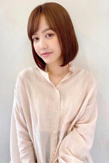 ぷつんとおさまりボブ【s68】|Lila by afloatのヘアスタイル