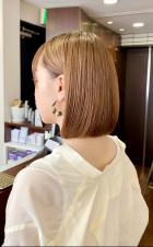 おさまり抜群切りっぱなしボブ【s75】|Lila by afloatのヘアスタイル