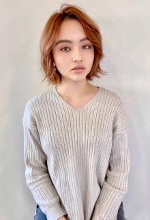 ミックスパーマ×ワンレンボブ【s-90】 Lila by afloatのヘアスタイル
