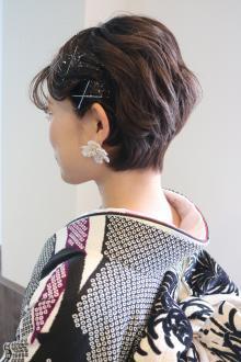 #2021成人式 #ショート #振袖|Loco Styleのヘアスタイル