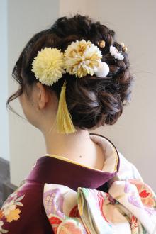成人式のツインロールあみこみスペシャル|Loco Styleのヘアスタイル