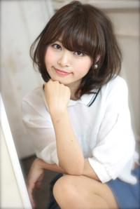 2014 夏 ヘアスタイル ミディアム 黒髪風カラー