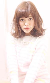 【Maria by afloat】吉澤侑子 ラベンダーカラーフレンチテイスト無造作カールミディ