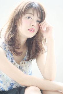 透け感ミディ☆シースルーバング Maria by afloatのヘアスタイル
