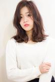 人気の髪型 セミディ デジタルパーマ ヌーディーベージュs-327