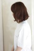 ミックスカールの大人ロブ 束感の簡単スタイリングs-372