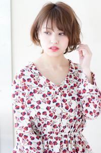 前髪、顔まわりの似合わせカットはお任せください♪レトロミックスで大人可愛いショートボブs-380