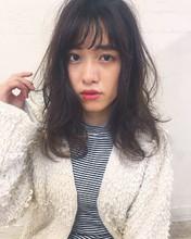 ゆるふわミディモテパーマ|Maria by afloatのヘアスタイル