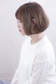 大人のこなれボブ ハイライト 透明感カラーs-464