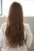 小顔にみせる前髪のミルクティーカラーロングs-487