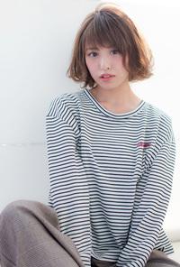 エアリーひし形ボブ【チャコールベージュ】U-159