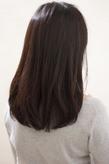 黒髪風なラベンダーカラー 鎖骨下セミディs-496