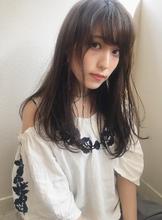 小顔ワンカールブルージュロング|Maria by afloat 鎌倉 彩のヘアスタイル