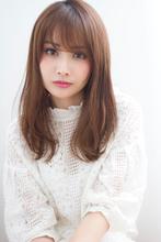 【添田】似合わせカットで小顔な前髪ニュアンスストレート|Maria by afloatのヘアスタイル
