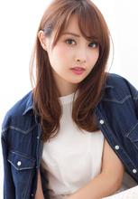 【添田】似合わせカットで小顔な前髪ひし形シルエットセミディ|Maria by afloatのヘアスタイル