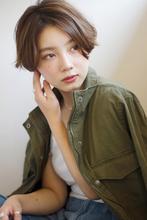 【添田】似合わせカットエアリーショート前下がり斜めバングs-15|Maria by afloatのヘアスタイル