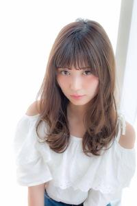 女子アナ風抜け感セミディ【ガレットベージュ】U-206