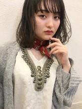 暗髪フォギーアッシュエアリーボブ13|Maria by afloat 鎌倉 彩のヘアスタイル